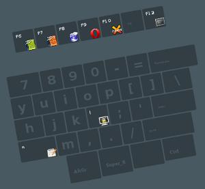 Teclado Microsoft Natural, pintado por Superkb (Cairo, flat_key). Haz clic para ver la imagen completa.