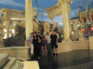 Todos en el Caesars Palace.