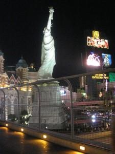 New York-New York, Las Vegas, de noche.