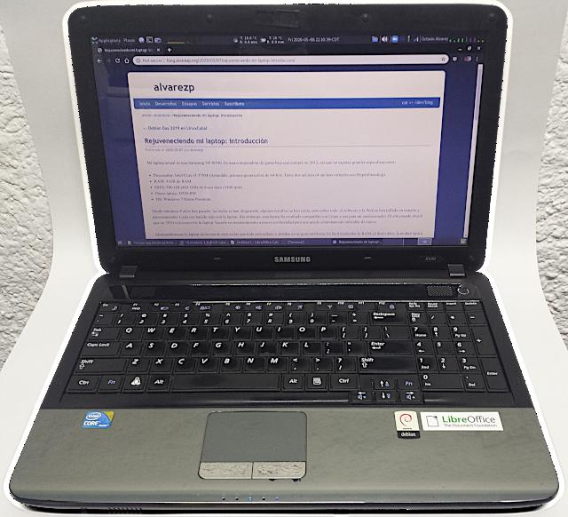 Fotografía de laptop Samsung R540